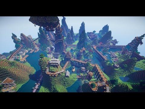 Minecraft Timelapse - Mountain Village