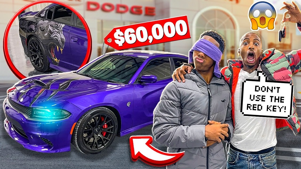 SURPRISED MY 15 YEAR OLD BROTHER JAY WITH A HELLCAT!😱(EARLY BIRTHDAY PRESENT)🎁