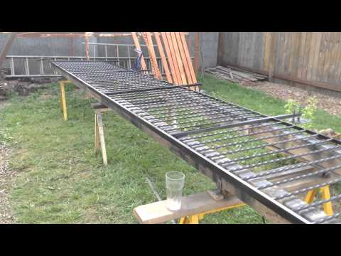 Improvised layout jig for welded steel fences and gates