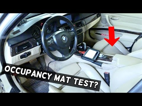 HOW TO TEST PASSENGER SEAT OCCUPANCY SENSOR ON BMW