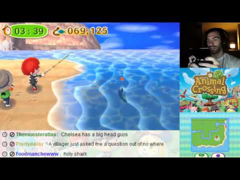 Animal Crossing New Leaf 3DS - How to Catch Sharks Five in a Row
