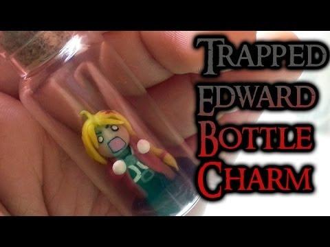 Full Metal Alchemist Edward Bottle Charm Polymer Clay Tutorial / Arcilla Polimérica