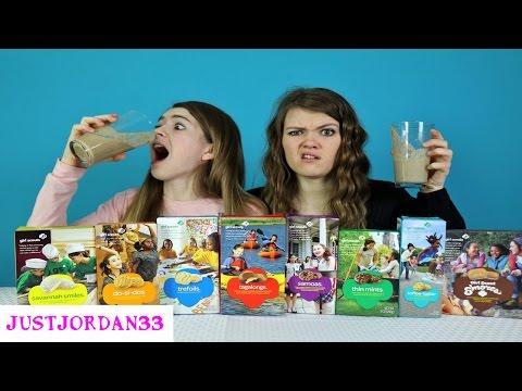 Girl Scout Cookie Smoothie Challenge / JustJordan33