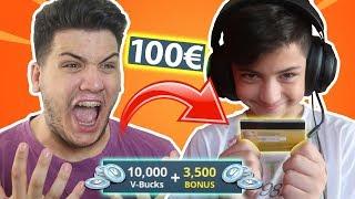 Πήρε την ΚΑΡΤΑ μου και ΕΒΑΛΕ 100€ στο FORTNITE!