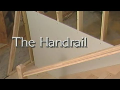 How to Install a Stair Handrail - How to build stairs