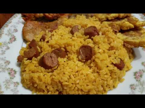 Puerto Rican Rice with Vienna Sausage