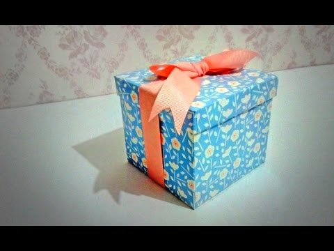 010 DIY Gift Box using excess mounting board