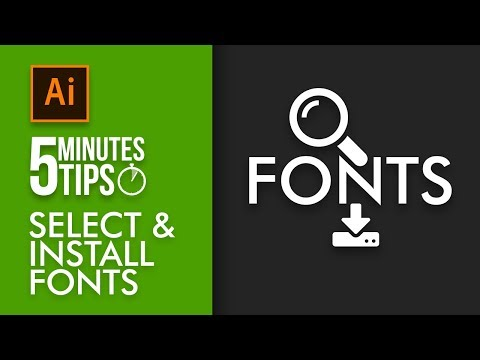 How to Choose free fonts and install to use - 5 Minutes Tip