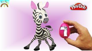 Best Play doh Creation  (Cute Zebra Cartoon) eggs opening.