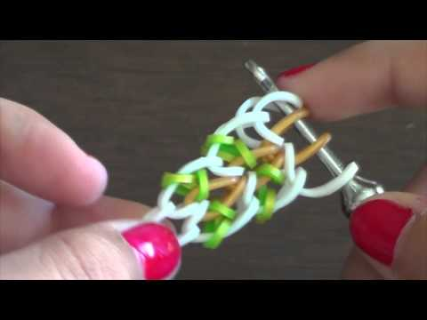 CALINA Hook Only Rainbow Loom Bracelet Tutorial