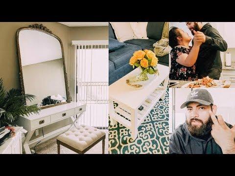 MY BEAUTY ROOM + OFFICE UPDATES + BOYFRIEND WEARS MAKEUP + DECOR SHOPPING!