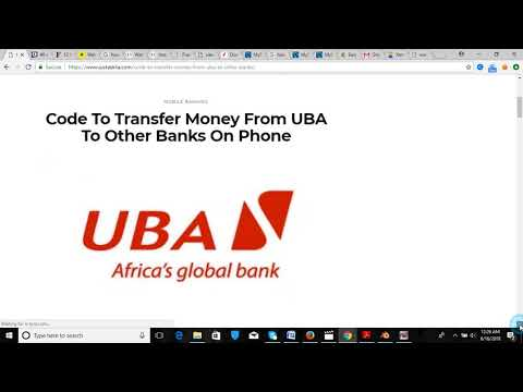 Code To Transfer Money From UBA To Other Banks On Phone