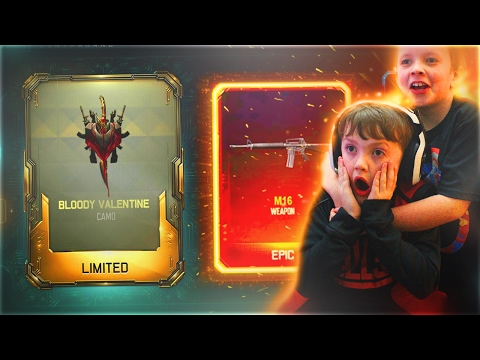 MY LITTLE BROTHER OPENS 2 NEW DLC WEAPONS IN ONE SUPPLY DROP OPENING! (Black Ops 3 NEW DLC)