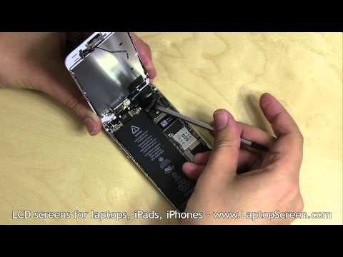 iPhone 5S screen replacement / digitizer glass and LCD reinstallation instructions