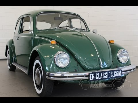 Volkswagen Beetle Green 1969 new paint beautiful car in great condition -VIDEO- www.ERclassics.com