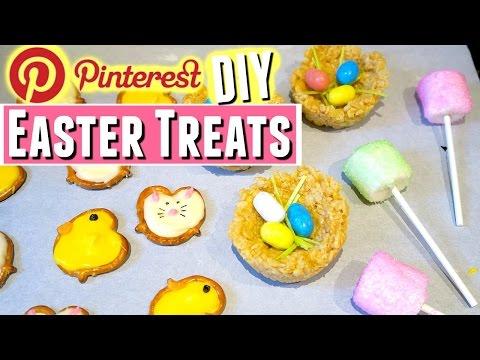 PINTEREST DIY EASTER TREATS including Pinterest Easter Rice Krispie Nests & Easter Marshmallow Pops