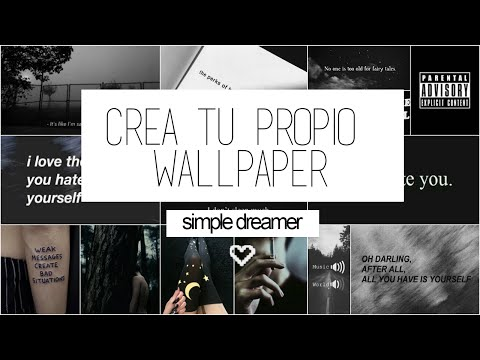 Como crear tu propio wallpaper ♡
