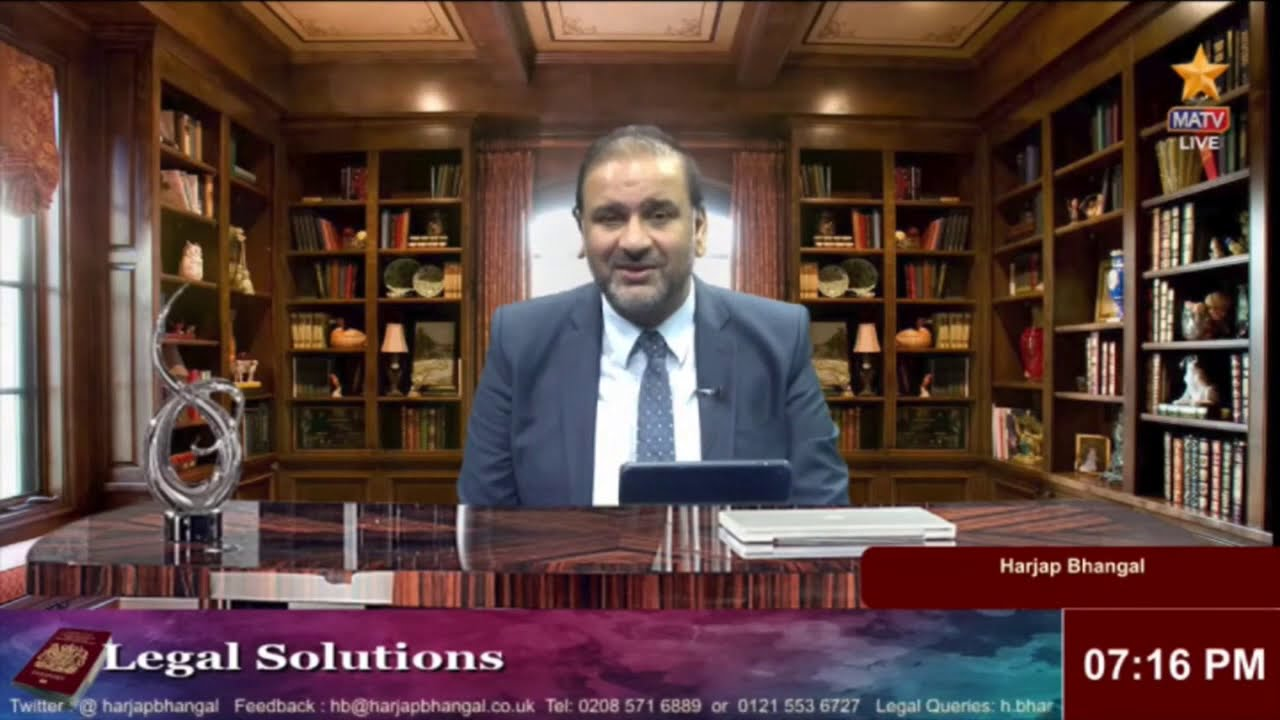 Legal Solutions with Harjap Bhangal  LIVE  26-02-2021 - Sponsor Licences