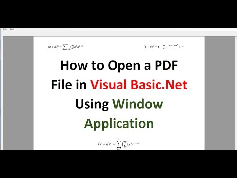 How to Open a PDF File in Visual Basic.Net