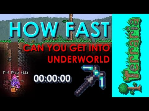 Terraria - How Fast Can You Get Into Underworld with Luminite Pickaxe!