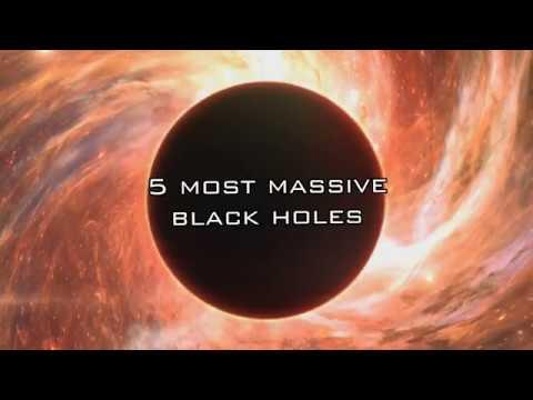 Top 5 biggest black holes