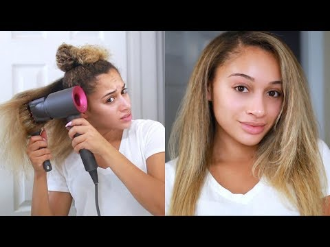 Curly to Straight Hair Tutorial! *Updated*