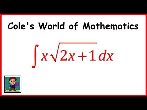 Integral of x sqrt(2x + 1) ❖ Calculus 1 ❖ Square Root Integrals