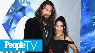 Jason Momoa Kisses His Wife - Before Performing The Haka At The 'Aquaman' Premiere | PeopleTV