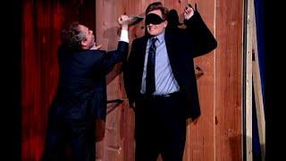 Conan Throws Knives With Penn & Teller   Late Night with Conan O'Brien