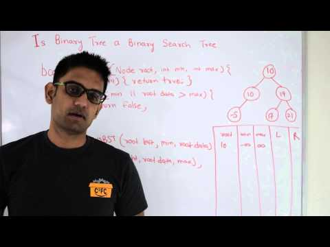 Check if Binary Tree is Binary Search Tree