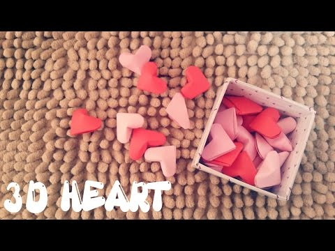 Origami Easy - 3D Heart - Valentine's Day Craft