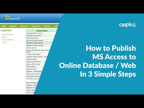 How to Publish MS Access to Online Database / Web In 3 Simple Steps
