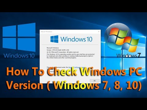 How to Check Windows Version, 32 bit or 64 bit ?