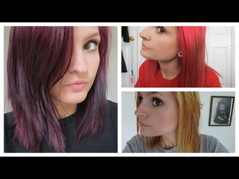 How I went from Bright Red to Purple Hair! | Color Oops & VS London Lilac | Alyssa Nicole |