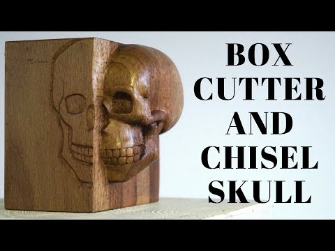 Skull carving (Inspired by Shogun-Jimi and Eloi Escagedo)