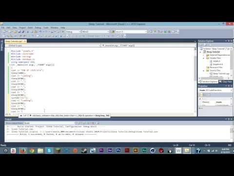 C++   Sleep (Wait) Command + Clear Screen Command