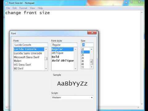 How to change Font Size in text box