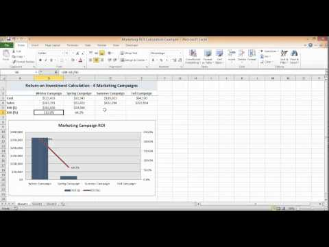 ROI Calculation in Excel