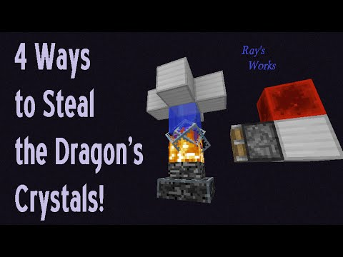 4 Ways to steal the Dragon's Crystals! 1.12-1.9+ Vanilla Survival | Ray's Works