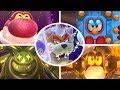 Super Mario 3D World All Bosses 3 Player