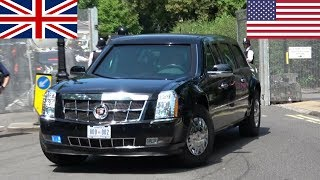 President Donald & Melania Trump in London! - Secret Service, Escorts and Aircraft!