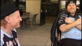 Corey Taylor (Stone Sour/SlipKnot) meets  recently paralyzed fan Aaron Foley