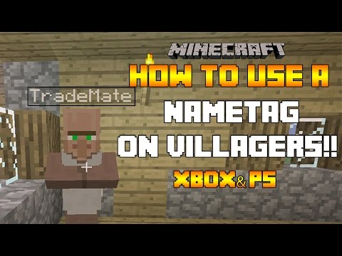 Minecraft (Xbox360/PS3) - TU19 - HOW TO USE NAMETAGS ON VILLAGERS!! - 3 IN 1 TUTORIAL