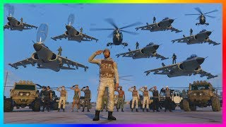 GTA ONLINE MILITARY MAYHEM SPECIAL - ARMY BASE TAKEOVER, BEST MILITARY VEHICLES, OUTFITS & MORE!!!