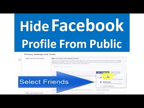Make Your Facebook Profile Public or Private