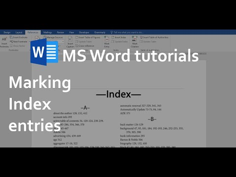 Create index in word 2013