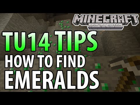 Minecraft (Xbox 360/PS3) - TU14 UPDATE! - HOW TO FIND EMERALDS (Tips & Tricks)