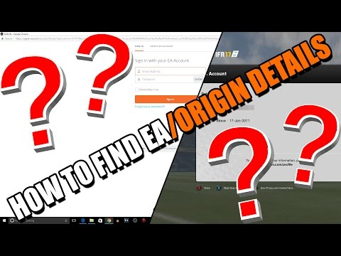 How To Find EA/Origin Account Details (Updated- Fifa 18 Web App, Origin Games)