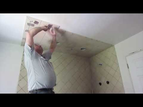 How to install tile on a ceiling
