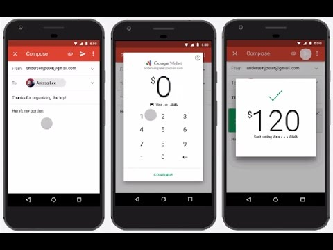 How to send money via Gmail on Android